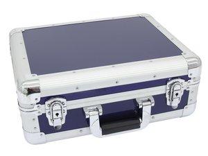 Flight case pour 80 à 90 CD bleu