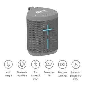 Getone 20 grey Power acoustics - Enceinte bluetooth USB sur batterie gris