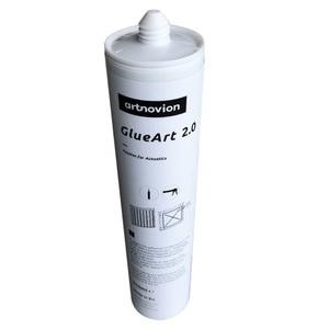 Tube de colle permettant de fixer de la mousse, du bois et polystyrène directement au mur ou au plafond.