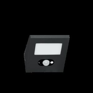 Projecteur Extérieur Solaire IP54 2,5W 4000K avec détecteur de mouvement Beneito Faure IRIS châssis noir