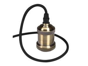 Luminaire à suspension en cordage Velleman douille E27 Finition Bronze