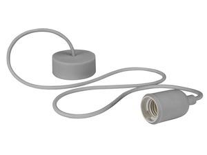 Luminaire à suspension en cordage Velleman douille E27 Gris