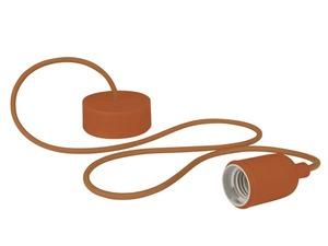 Luminaire à suspension en cordage Velleman douille E27 Marron