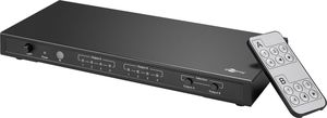 Matrice HDMI 4 entrées vers 2 sorties 4K