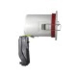 Support plafond Rond Blanc avec douille automatique Ø88 mm