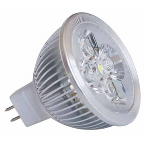 MR16 à 4 LED 4X1W blanc chaud 2700K 12v