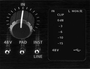 MX-1IO IMG Stageline Carte son USB 3 entrées pour enregistrement sur ordinateur