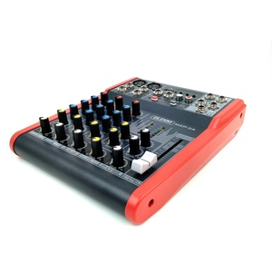 Table de mixage GLEMM MXP04 4 cannaux EQ 3 bandes et lecteur USB/MP3