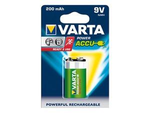 Pile 9V rechargeable NIMH Varta 200mAh 6LR61