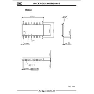 Circuit NJM13700M double Ampli OP à transconductance - DMP-16