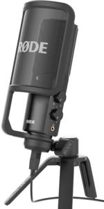 Microphone RODE NT-USB electret cardioïde avec sortie casque jack 3.5mm pour Podcast - studio