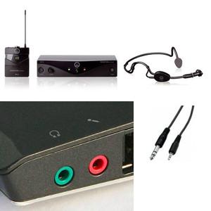 Pack audio conférence micro serre tête sport sans fil pour ordinateur double jack