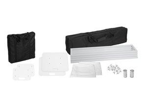 Pack de 2 Totems blanc hauteur 1m avec housses