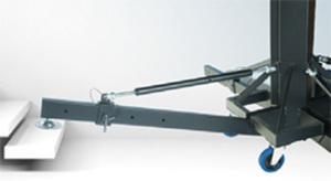 Pied à treuil noir ASD ALT 600 hauteur 6m charge 250Kg