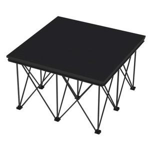 Plateforme mobile 1x1m - 500 kg/m2 noire Contestage