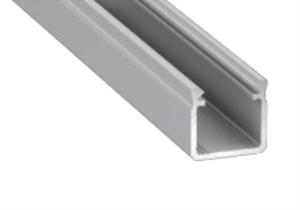 Profilé de surface typeY 17X18mm pour ruban 14mm de largeur max aluminium brut 2m