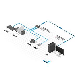 Prolongateur USB 3.0 actif LINDY 10M noir