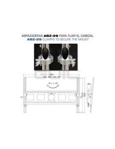 PTR08-N Guil Chariot mobile noir pour écran jusqu'à 80