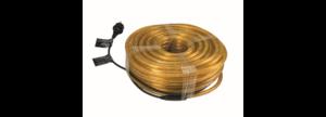 FLEXIBLE LUMINEUX Orange 44M avec prise secteur
