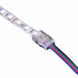 Connecteur pour connecter un câble 4 fils sur un ruban led RGB