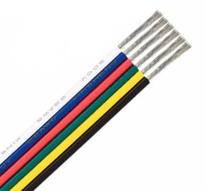 Fil de câblage 6 couleurs pour ruban de led RGBWA prix au mètre