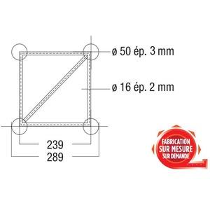 Structure Carrée ASD série SC 300 SC 30029 29cm forte charge renforcée