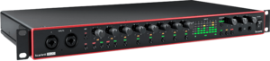 Focusrite Scarlett3 2i2 interface audio USB-C midi Spdif optique 18 entrées 20 sorties