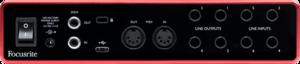 Focusrite Scarlett3 8i6 interface audio USB-C midi spdif 8 entrées 6 sorties