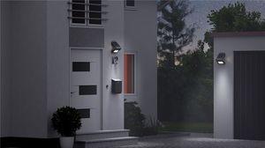 Applique solaire 400 lumens blanc 3,2W avec détecteur