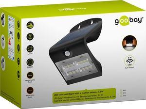 Applique solaire 400 lumens grise 3,2W avec déteteur