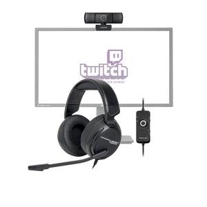 START-PACK-TWITCH Pack pour streamer débutant 1 combiné micro casque et caméra HD