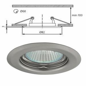 livraison gratuite plafonnier chrome mat spot encastr fixe pour dichroique halog ne ou led 50mm. Black Bedroom Furniture Sets. Home Design Ideas
