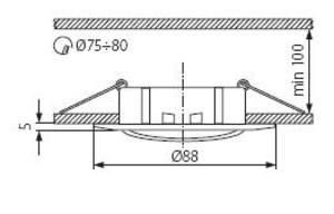 Plafonnier spot encastré orientable pour dichro 50mm fonte alu blanc