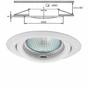 livraison gratuite plafonnier blanc spot encastr orientable pour dichroique halog ne ou led. Black Bedroom Furniture Sets. Home Design Ideas