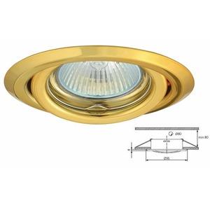 livraison gratuite plafonnier dor encastr spot orientable pour dichroique halog ne ou led 50mm. Black Bedroom Furniture Sets. Home Design Ideas