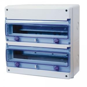 Tableau électrique étanche nu 2 rangées 17 Modules IP Ohmtec
