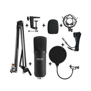 Power Vibe B1 Bundle XLR micro studio avec suspension anti pop bonnette et câble