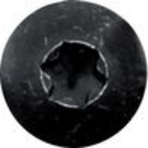 Vis bois penture tête ronde large torx acier zingué noir 7X40