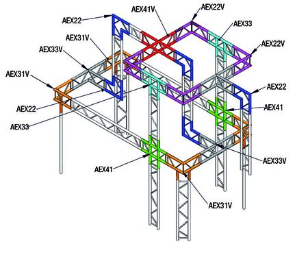 Angle 3D de structure Vertical échelle ASD AEX31V
