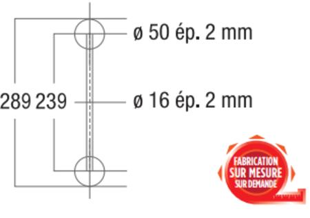 Angle en T de structure Vertical échelle ASD AEX33V