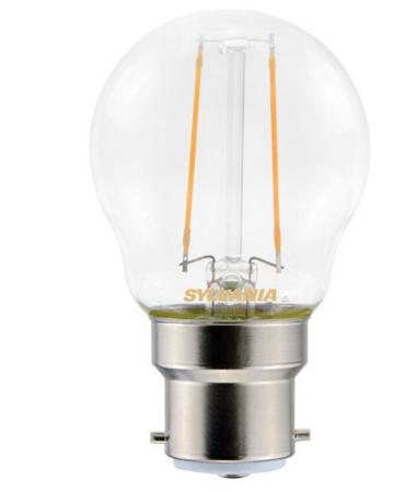 Ampoule led sphérique Sylvania G45 B22 filament 250 lumens blanc chaud