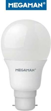 Ampoule sphérique B22 Megaman 230V LED 5W5 2800K 470LM
