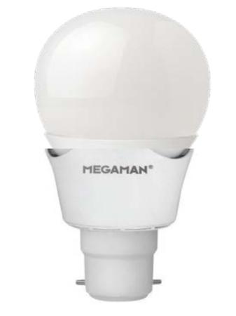 Lampe led B22 megaman sphérique 7w blanc chaud 2800K 400 lumens dimmable