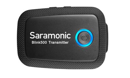Système HF Saramonic Blink 500 B2 ultra compact 2.4GHz sur batterie Lithium 2 émetteurs 1 récepteur