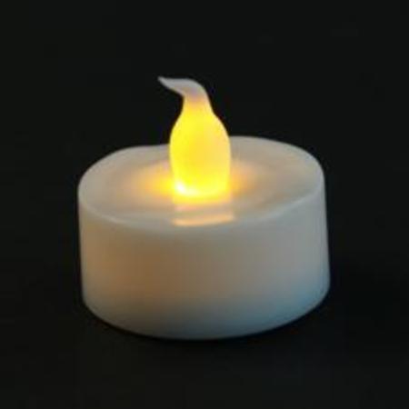 Bougie à led scintillante blanc chaud avec pile et interrupteur