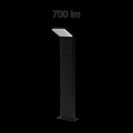 Eclairage extérieur LED IP54 9W 4000K 120° châssis noir CAM 60cm Beneito Faure