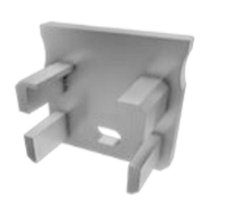 Embout de terminaison plastique percé pour profilé de surface typeY gris
