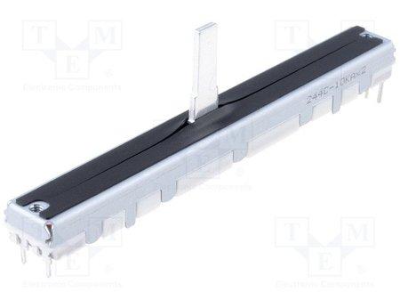 Double potentiomètre Fader 10K Linéaire ALPS 200mW Stéréo - 6 pins
