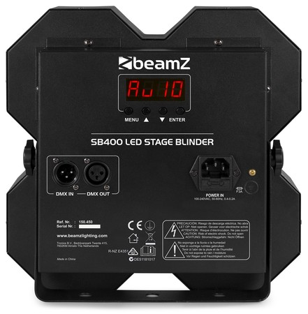 Blinder Led 4X50W BeamZ SB400 COB Blanc chaud