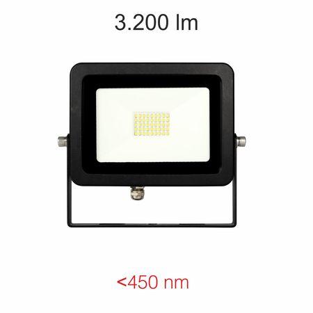 Projecteur Led noir IP65 Beneito Faure SKY 30W blanc froid 4000K 110°